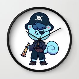 Pirate Squirrel treasure hunt pirates Gift Wall Clock