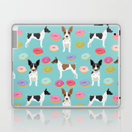 Rat Terrier donuts dog breed pet portrait dog pattern dog breeds gifts for dog lovers Laptop & iPad Skin