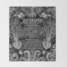 The Kraken (Black) Throw Blanket