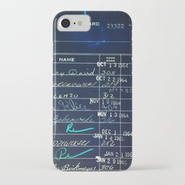 Library Card 23322 Negative iPhone Case