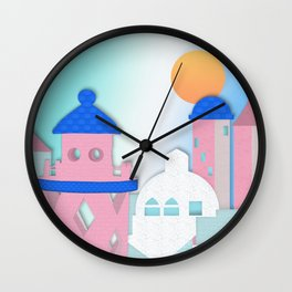 Rose Tinted View Wall Clock