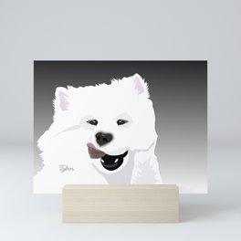 Tybor the Samoyed; Illustrated Portrait Mini Art Print