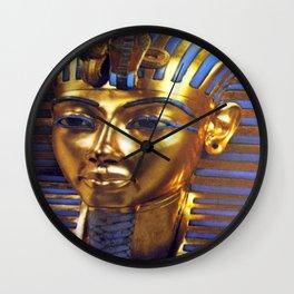 Gold Mask Wall Clock