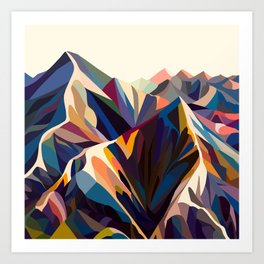 Mountains original Kunstdrucke