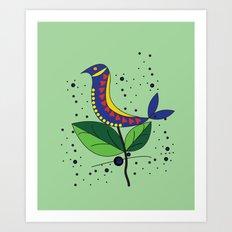color bird Art Print