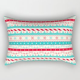 Christmas Candycane Mouse Ears Heartbeat Rectangular Pillow