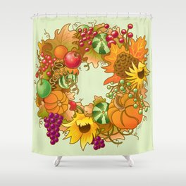 Fall Wreath Shower Curtain