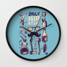 Daily Hipster Wall Clock