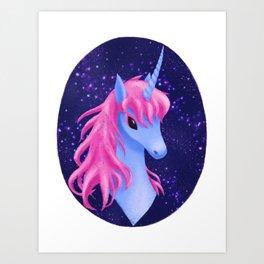 Unicorn Portrait Art Print