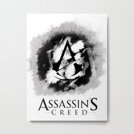 Assassin's creed black Metal Print