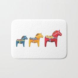 Dala horses Bath Mat