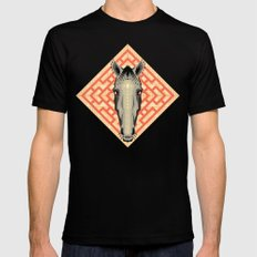 Horse Pattern No 1 MEDIUM Black Mens Fitted Tee