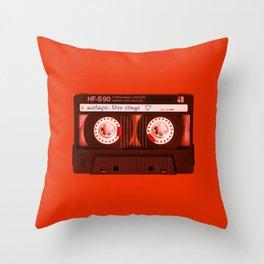 Mixtape: Love Songs Throw Pillow