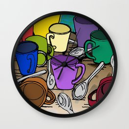 Cups and Spoons Wall Clock