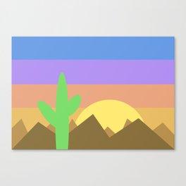 Arizona Desert Sunset Illustration Canvas Print