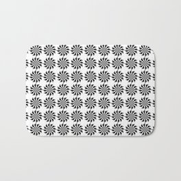 Background abstract, black-and-white pattern, vector, circle texture design. Bath Mat