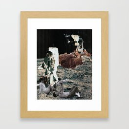 Control Yourself (Collage) Framed Art Print