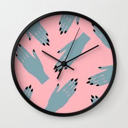 Vampy Hands Wall Clock
