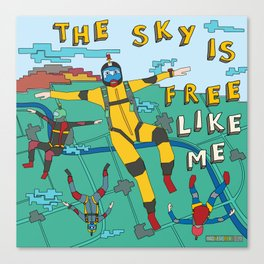 Skydive in the sky Canvas Print