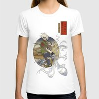 kakashi T-shirts featuring Woodblock Kakashi by Sempaiko