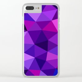 Crystal Galaxy Low Poly Clear iPhone Case