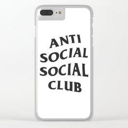 Anti social social club Clear iPhone Case