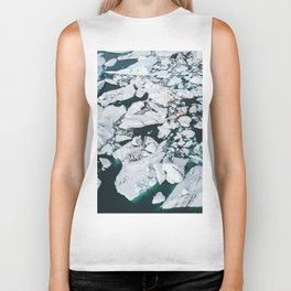 Icelandic glacier icebergs from above - Landscape Photography Biker Tank