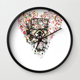 Toxic Love with Skull on the Barrel Wall Clock