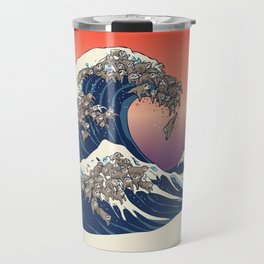 The Great Wave of Sloth Travel Mug