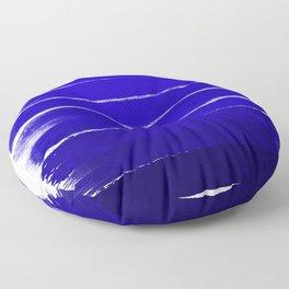 Shel - abstract painting painterly brushstrokes indigo blue bright happy paint abstract minimal mode Floor Pillow
