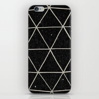triangles iPhone & iPod Skins featuring Geodesic by Terry Fan