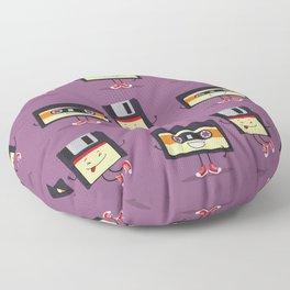 Floppy disk and cassette tape Floor Pillow