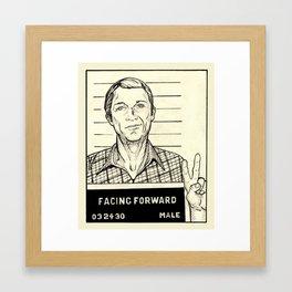 Steve McQueen Mugshot Framed Art Print