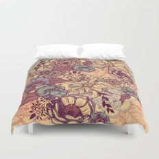 Vintage yellow flowers Duvet Cover