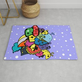 Doodle monsters Rug