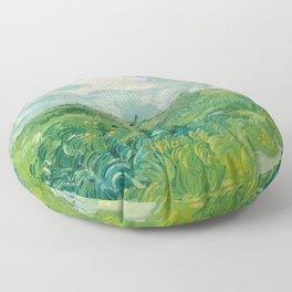 Green Wheat Fields, Auvers, 1890, Vincent van Gogh Floor Pillow