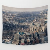 toronto Wall Tapestries featuring Toronto by Nick De Clercq