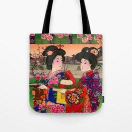 Two Geishas Tote Bag