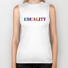Equality For All 3 - Stone Rock'd Art By Sharon Cummings Biker Tank
