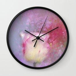 Spring Tulip Impression Wall Clock