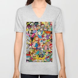 Childhood Cartoons Unisex V-Neck