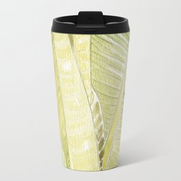 Banana Leaves Watercolor Travel Mug