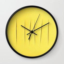 Pantone lucio fontana Wall Clock