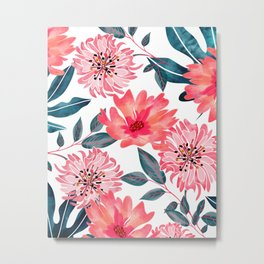 Yours Florally Metal Print