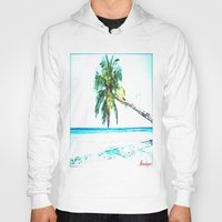 cuba Hoodies featuring Cuba , Playa  ( Cuba , beach ) by arnedayan