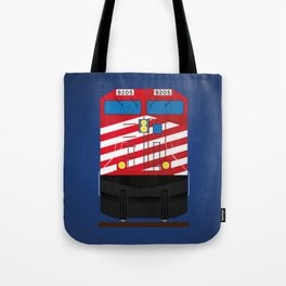 Red Train Tote Bag