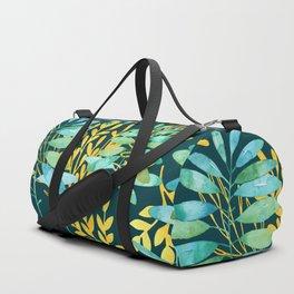 Golden Summer Leaves Duffle Bag