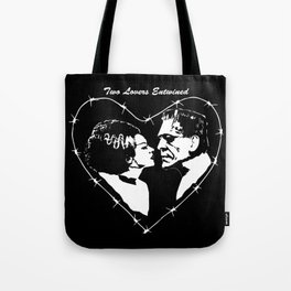 MAKE THIS OCTOBER AND HALLOWEEN A SCREAM WITH 2 LOVERS ENTWINED Tote Bag