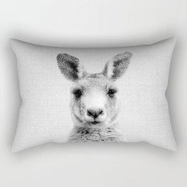 Kangaroo - Black & White Rectangular Pillow