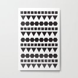 A Mix of Squares Triangles & Hexagons Metal Print